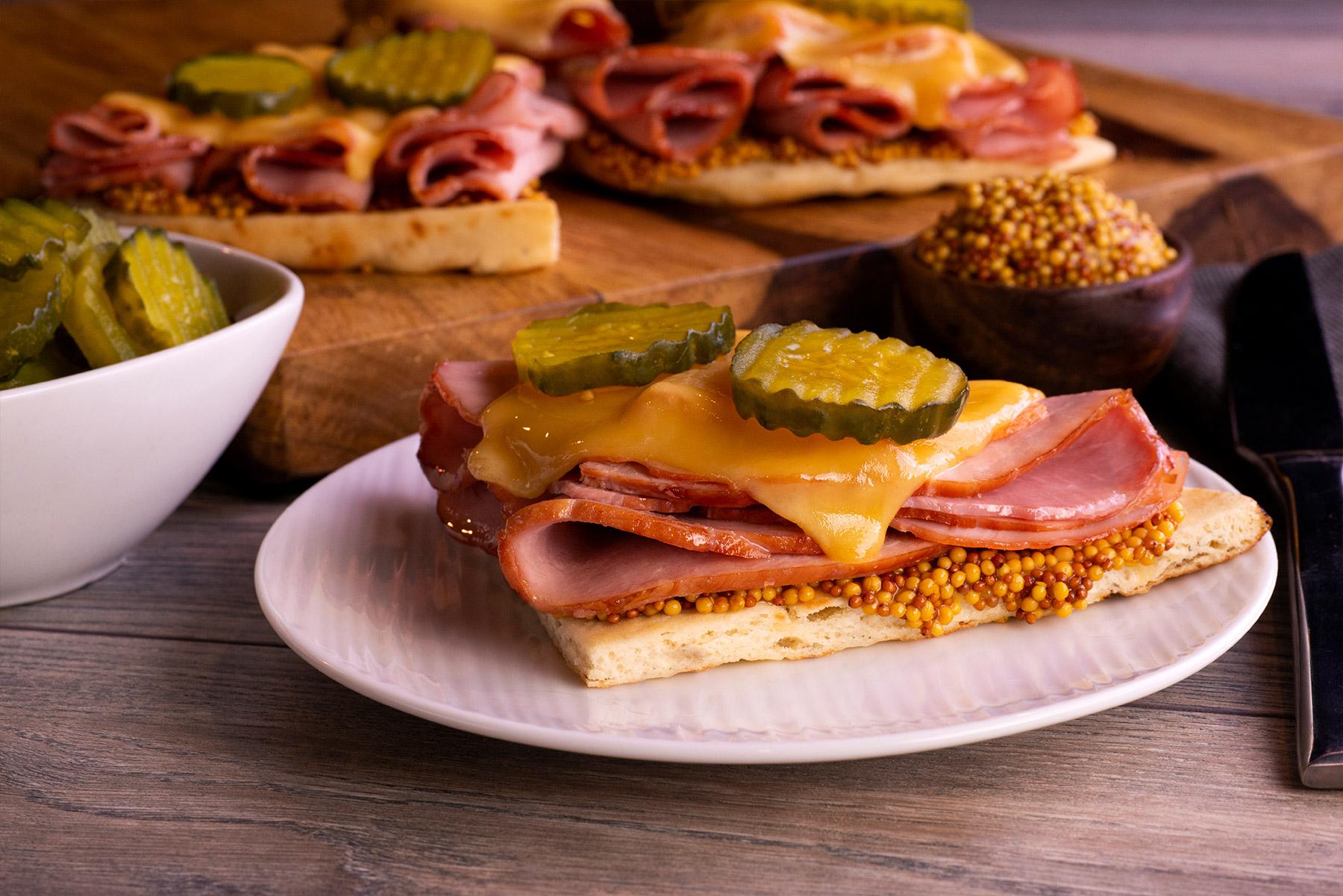 Cuban Ham Flatbread